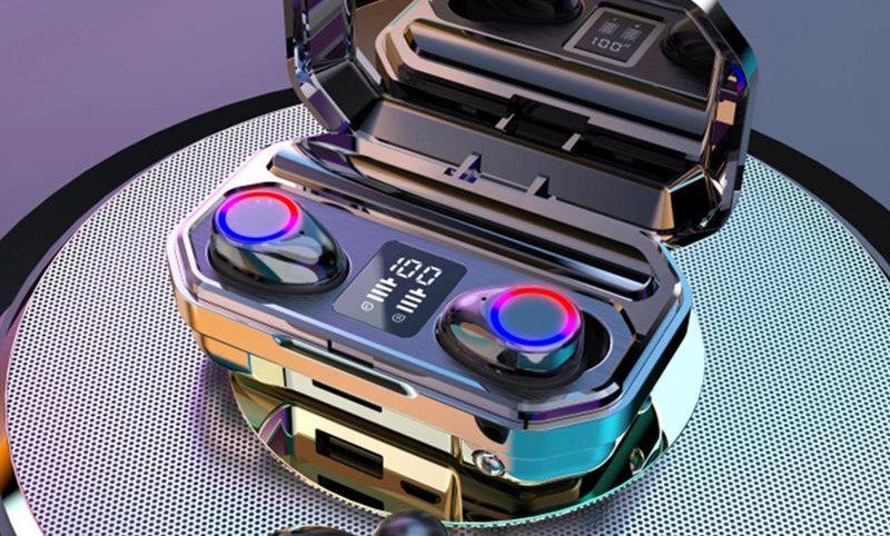 Casque M12 LCD écouteurs multifonction à dent bleue IPX7 batterie externe étanch