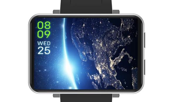 Lemfo - Montre connecté DM100, Grand écran, quadricoeur 4G, lecteur de carte SIM
