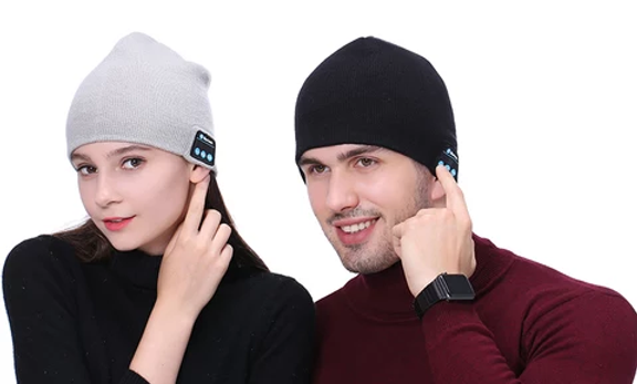 Bonnet intelligent unisexe sans-fil bluetooth