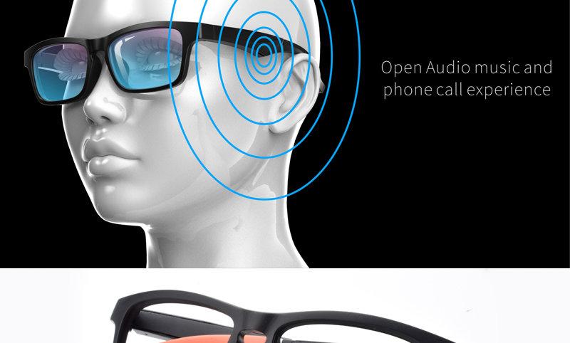 HBK bluetooth lunettes intelligentes dispositif de blocage de lumière b