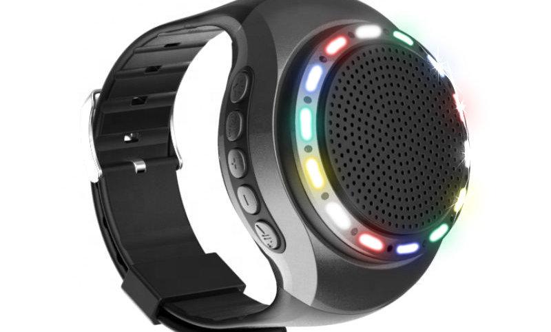 U6 haut-parleur montre avec led run lumière
