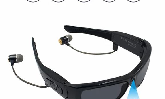 Lunette de soleil avec caméra HD Bluetooth