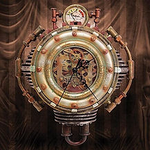 colonel j fizziwigs steampunk collection wall clock