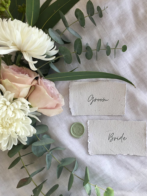 Your guest list printed Place Cards