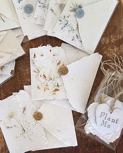 Handmade paper wedding stationary.jpg