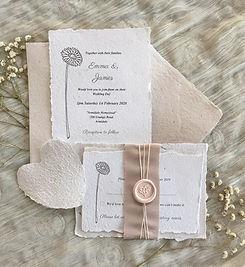 Handmade paper wedding invitations.jpg