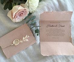 handmade wedding invitations recycled pa