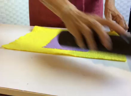Drying your paper and embossing.