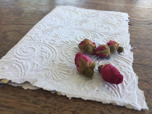 A5 Embossed Handmade Paper