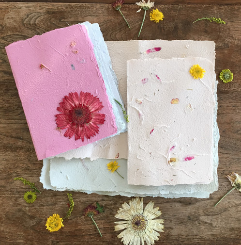 Gold coast introduction to paper making and presses flowers learn to make sheets of hand made paper from the pulp you prepare emboss when wet with your designs add flowers seeds and create a bundle of papers to mightylinksfo