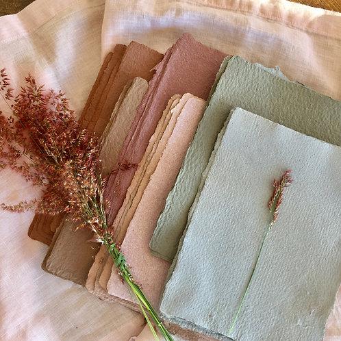 Workshop-Making Handmade Paper and Pressed flowers