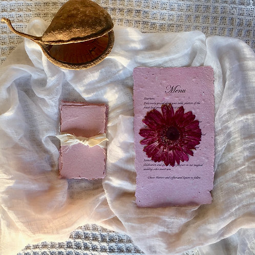 Paper Making and Pressed Flowers