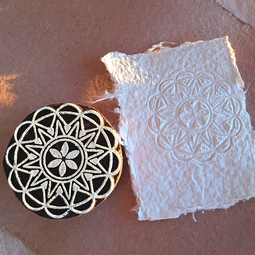 Emboss your paper with Wooden Blocks