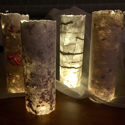 Handmade Paper Lights - Cedar