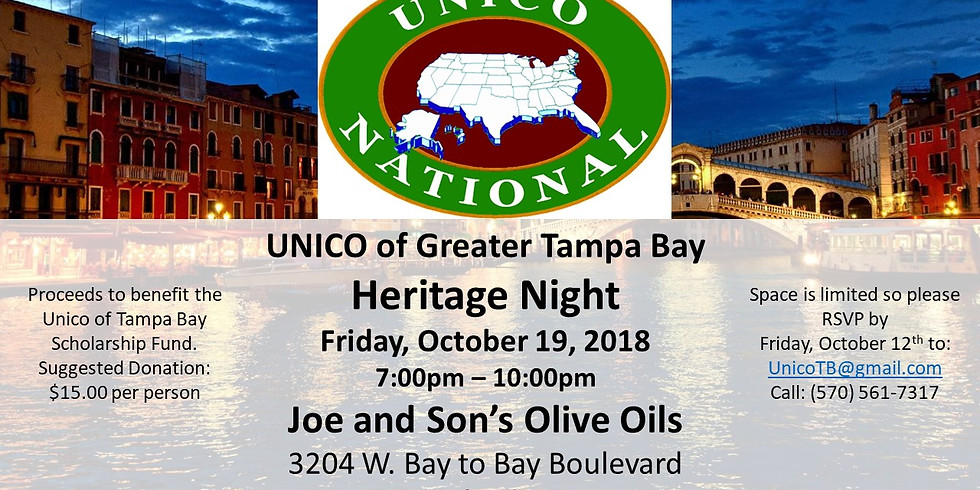 UNICO of Greater Tampa Bay - Heritage Night