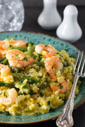 Lemon Risotto with Shrimp and Asparagus