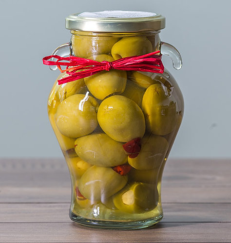Garlic & Chilli Stuffed Olives Gordal