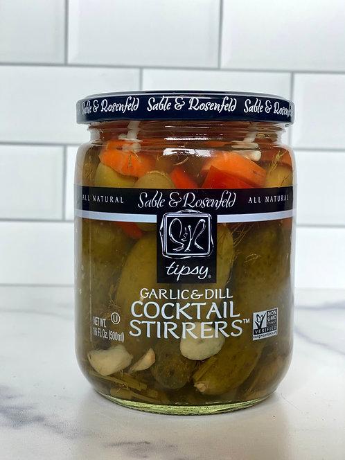 Tipsy Cocktail Stirrers - Garlic & Dill