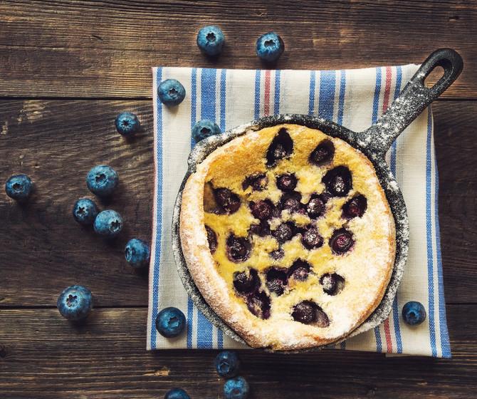 Oven Baked Blueberry Lemon Pancake