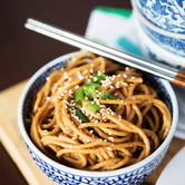 From the Pantry Cold Curry Peanut Noodles