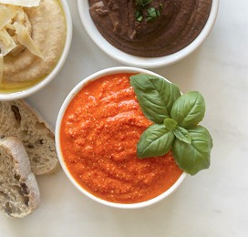 Tuscan Roasted Red Pepper Dip