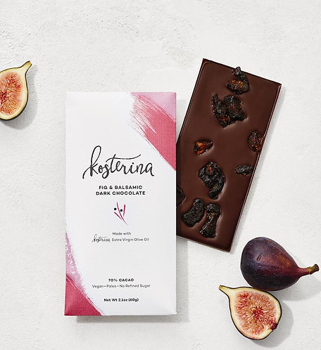 Olive Oil Dark Chocolate Bar — Fig and Balsamic