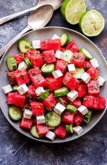 Cucumber Watermelon and Feta Salad