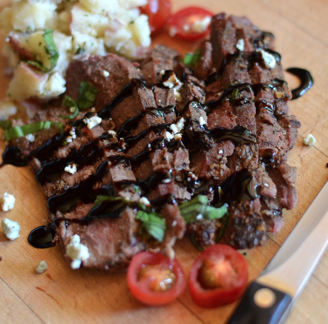 How to Marinate Steaks (Using Olive Wood Smoked Olive Oil and Espresso Balsamic Vinegar)