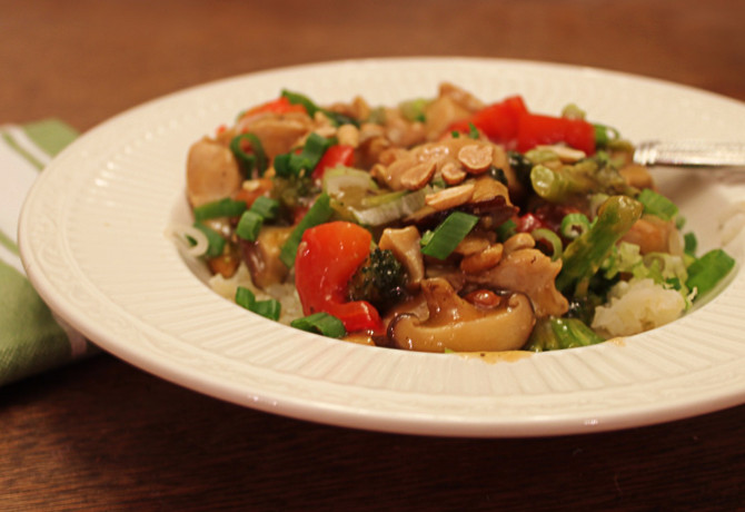 Quick and Easy Spicy Peanut Chicken