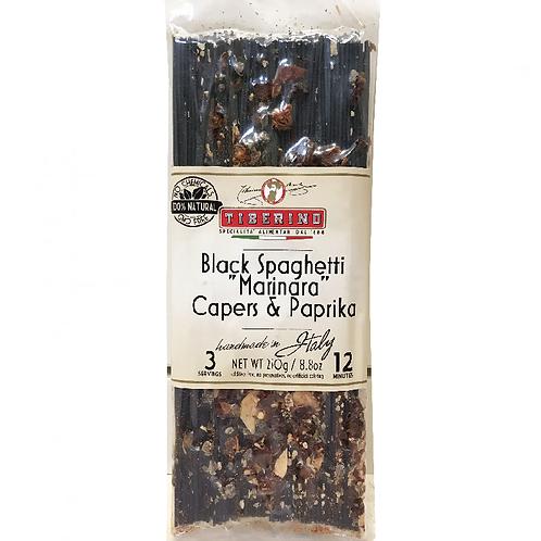 "Black Spaghetti ""Marinara"" Capers & Paprika"