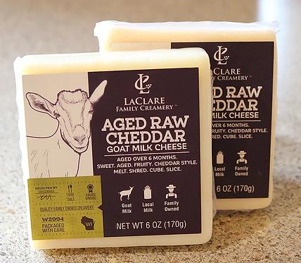 LaClare Aged Raw Goat Milk Cheddar 6 oz