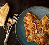 Ravioli with Balsamic Brown Butter Sauce