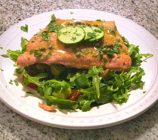 Salmon with Lemon Dill Dijon Sauce