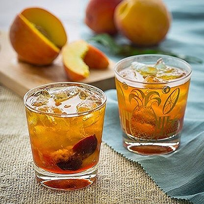 Peach White Balsamic Old Fashioned