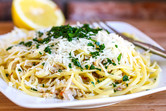 From the Pantry Linguine with Clam Sauce