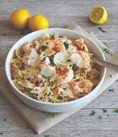 Shrimp with Lemon and Prosecco Garlic Cream Sauce