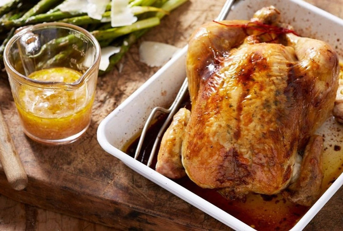 Olive Oil Roasted Chicken with Lemon and Rosemary