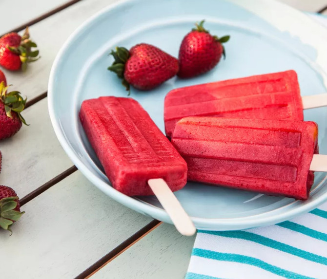 Strawberry and Balsamic Pops
