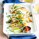 Coconut Lime Fish Tacos with Cabbage Slaw