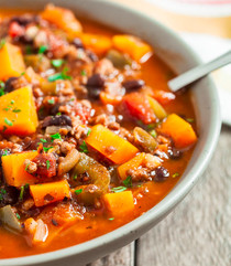 Pumpkin Three-Bean Veggie Chili