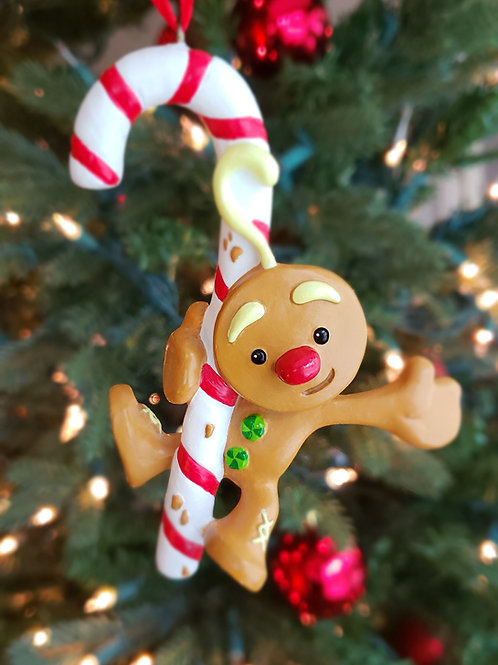 Crumbly Dan Gingerbread Cookie Tree Ornament