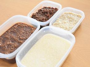 【仕込み仕事】米と麦の麹調味料。