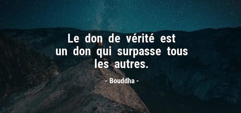 citation vérité bouddha