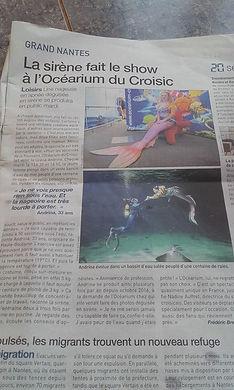 Article de presse Andrina la sirène
