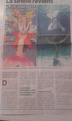 Article de presse - Andrina la sirène