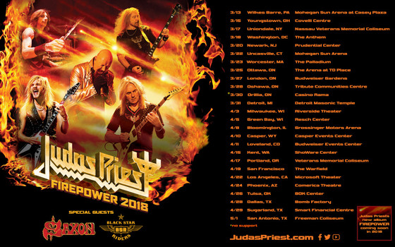 JUDAS PRIEST, SAXON AND BLACK STAR RIDERS - Live in Oshawa (March 28/18)