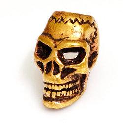 Bronze Bartperle Totenkopf