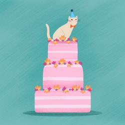 kitty gurl birthday card 2