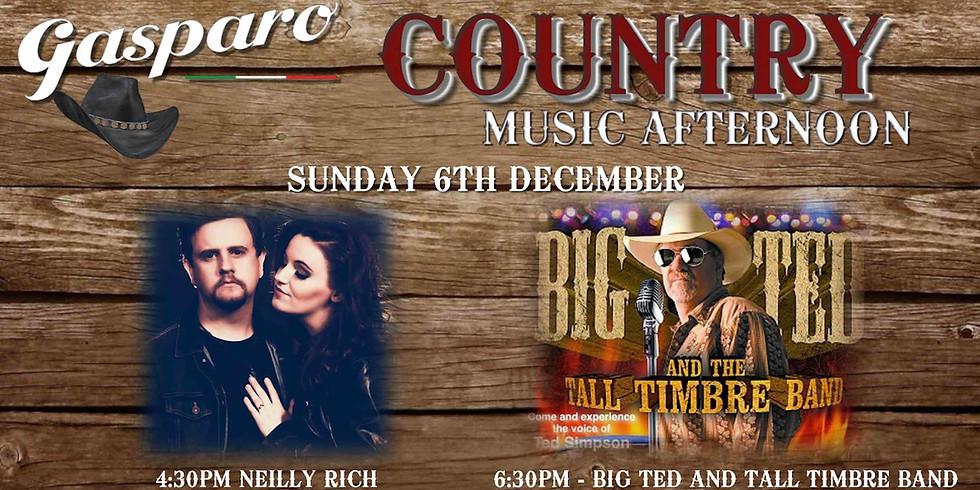 Country Sunday at Gasparo  4.30pm-8.30pm