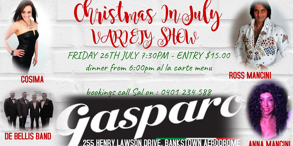 Christmas in July variety show